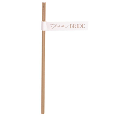 Ginger Ray® Papirne slamice Team Bride 16 kosov