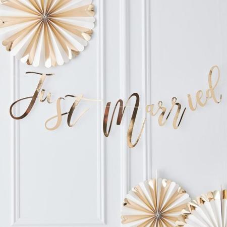 Slika za Ginger Ray® Viseći natpis Just Married