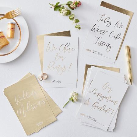 Slika za  Ginger Ray® Kartice za fotografiranje Gold Wedding