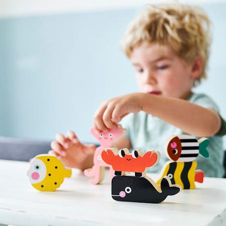 Petit Monkey® Drvene figurice za slaganje Ocean