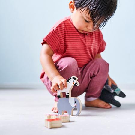 Slika za Petit Monkey® Drvene figurice za slaganje Jungle