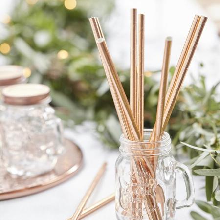 Slika za Ginger Ray® Papirne slamice Beautiful Botanics 25 komada