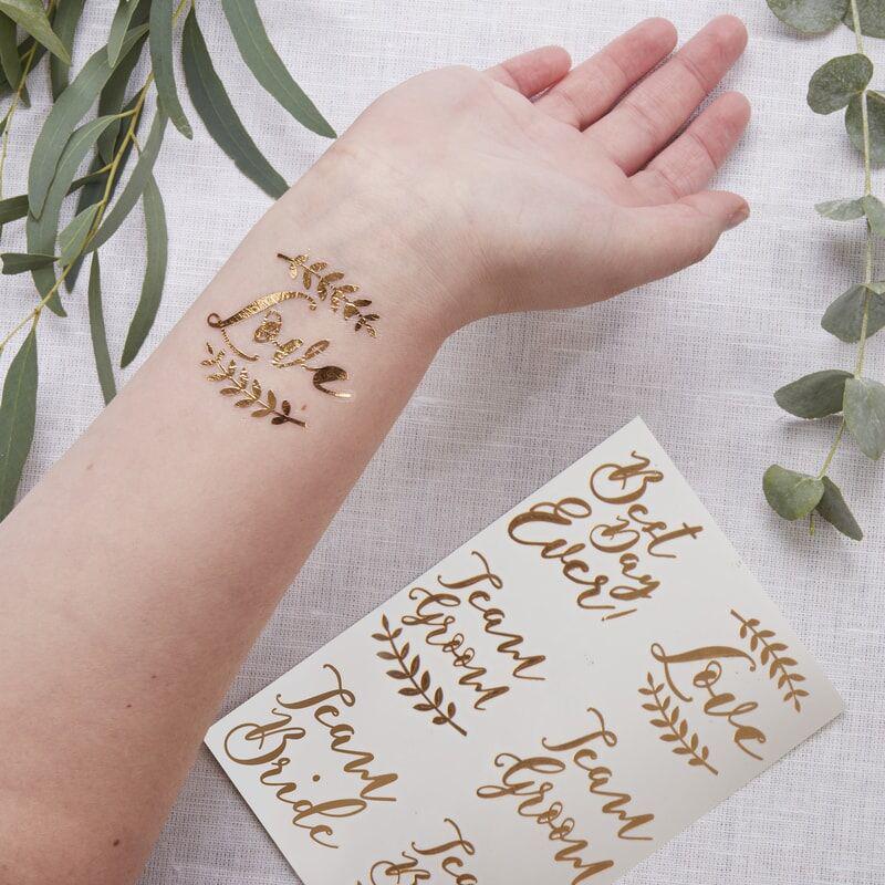 Slika za Ginger Ray® Tattoo Rose Gold Beautiful Botanics 6 komada