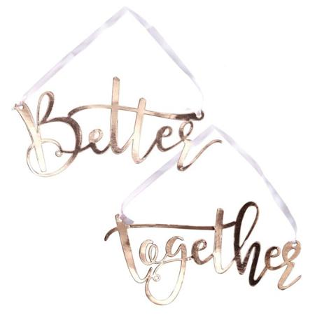 Slika za Ginger Ray® Dekoracija za stolicu Better Together