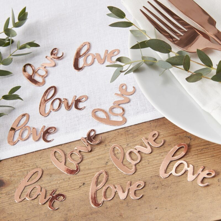 Slika za Ginger Ray® Stolni ukrasni konfeti Rose Gold Love