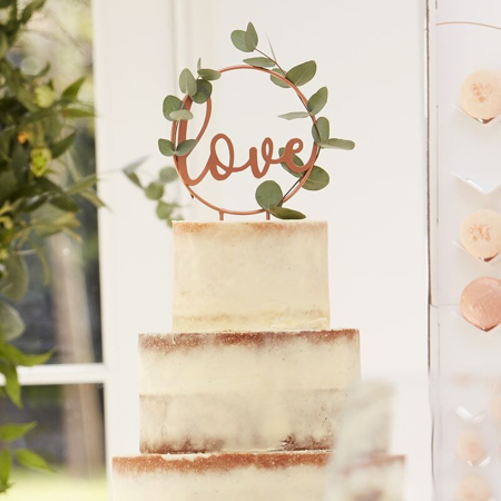 Slika za Ginger Ray® Ukrasak za tortu Love Rose Gold