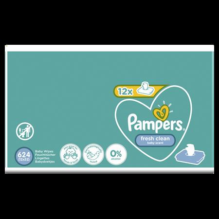 Pampers® Dječje vlažne maramice Fresh Clean 12x52 komada