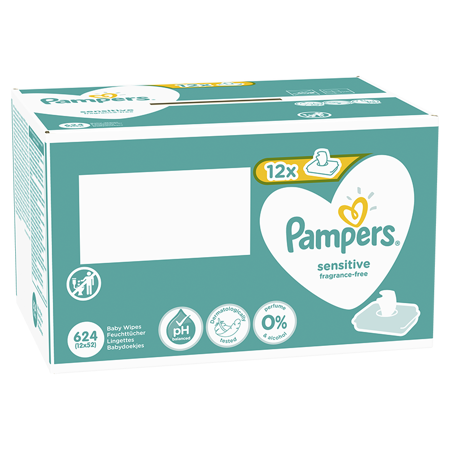 Pampers® Dječje vlažne maramice Sensitive 12x52 komada