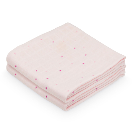 Slika za CamCam® Komplet tetra pelena Etoile Rose 70x70