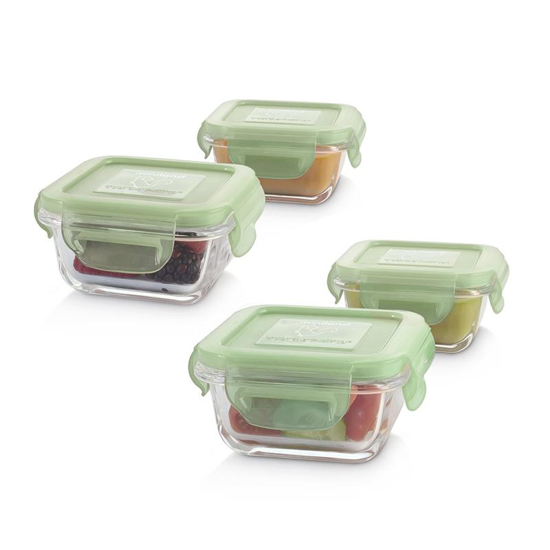 Slika za Miniland® Set 4 staklene posudice 160ml Chip