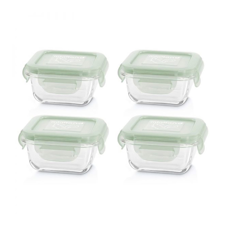 Miniland® Set 4 staklene posudice 160ml Chip