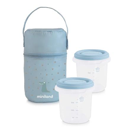 Miniland® Set dvi posudice sa termo torbom  Azure