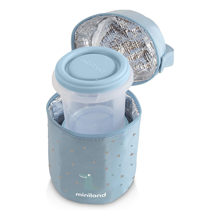 Slika za Miniland® Set dvi posudice sa termo torbom  Azure