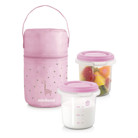 Slika za Miniland® Set dvi posudice sa termo torbom Rosa