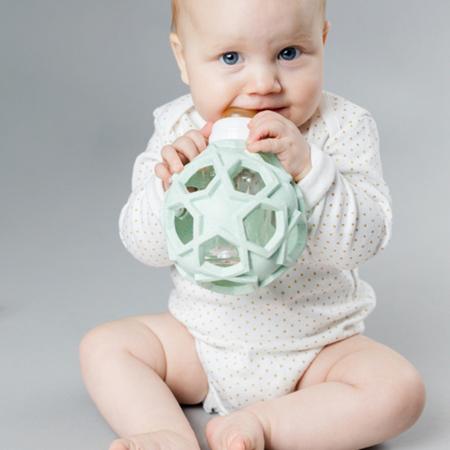 Slika za Hevea® Steklenička s snemljivo žogico iz kavčuka 120ml Upcycled Mint