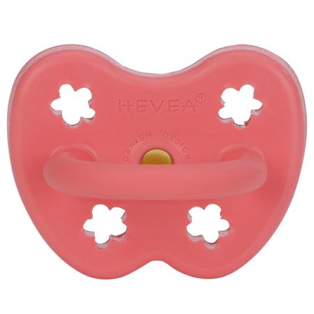 Hevea® Ortodontska duda od kaučuka Colourful (3-36m) Coral