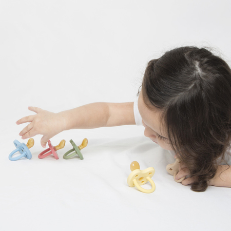 Slika za  Hevea® Ortodontska duda od kaučuka Colourful (3-36m) Pistachio