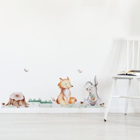 Slika za Yokodesign® Zidna naljepnica Breze & Životinjice