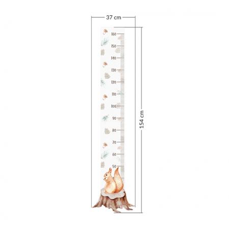 Yokodesign® Zidna naljepnica metar Vjeverica