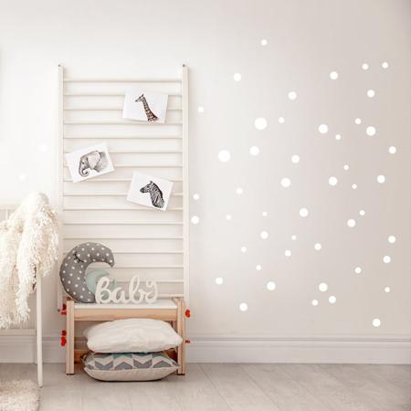 Slika za Pick Art Design® Zidne naljepnice Bijeli krugovi