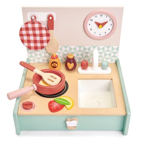 Slika za Tender Leaf Toys® Drvena prijenosna  kuhinja Kitchenette