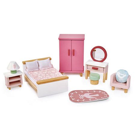 Slika za  Tender Leaf Toys® Spavaonica za lutke Dolls House Bedroom Furniture