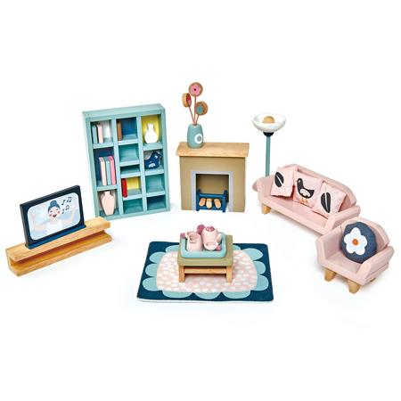 Slika za Tender Leaf Toys® Dnevna soba za lutke Dolls House Sitting Room Furniture