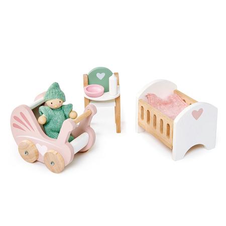 Slika za Tender Leaf Toys® Dječja soba za lutke Dolls House Nursery Set