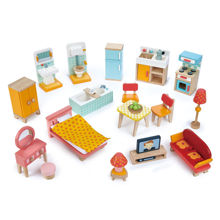 Slika za Tender Leaf Toys® Komplet namještaja za lutke Townhouse Furniture Set