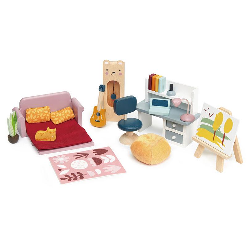 Slika za Tender Leaf Toys® Komplet namještaja za lutke Dolls House Study Furniture