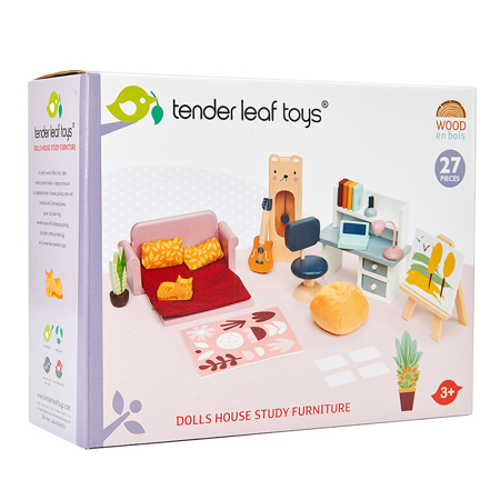Tender Leaf Toys® Komplet namještaja za lutke Dolls House Study Furniture