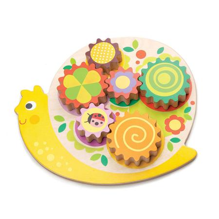 Slika za Tender Leaf Toys® Didaktična igračka Puž Snail Whirls