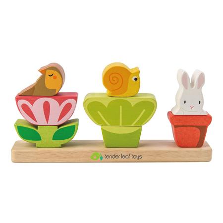 Slika za Tender Leaf Toys® Didaktična igračka Vrt Garden Stacke