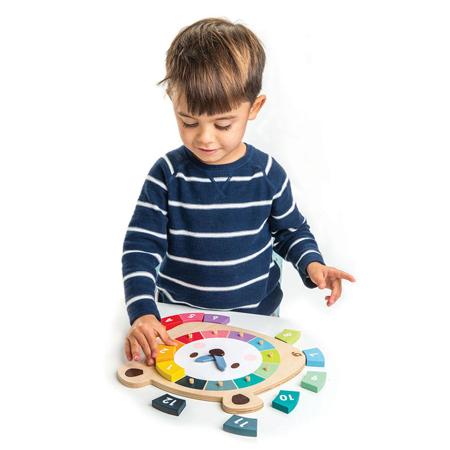 Tender Leaf Toys® Didaktična igračka Sat  Bear Colors Clock