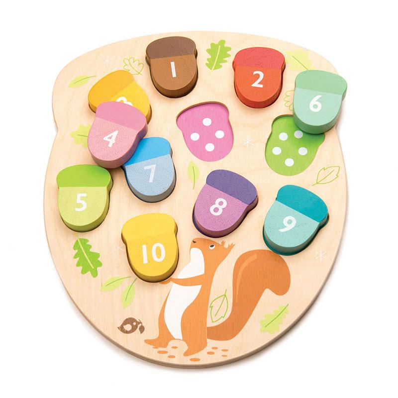 Slika za Tender Leaf Toys® Didaktična igračka  Žirovi How Many Acorns?