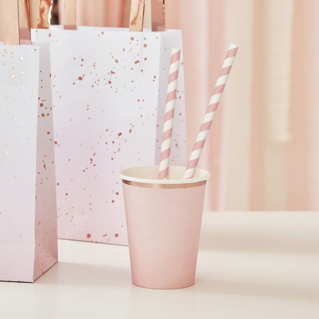 Slika za Ginger Ray® Papirne slamice Pink Stripe 20 komada