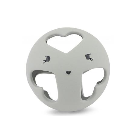 Slika za Konges Sløjd® Grizalo loptica od prirodnog kaučuka Storm Grey