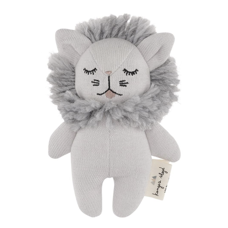 Slika za Konges Sløjd® Igračka sa zvečaljkom Mini Lion Grey Melange