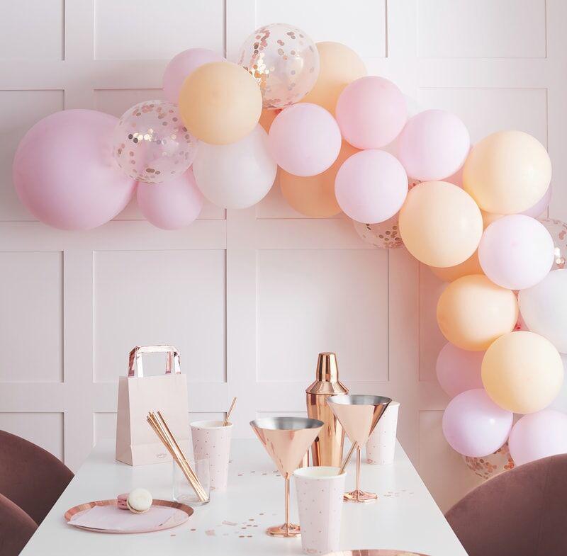 Slika za Ginger Ray® Luk iz balona Mat Peach and Pink