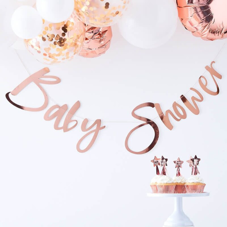 Slika za Ginger Ray® Viseći natpis Rose Gold Baby Shower