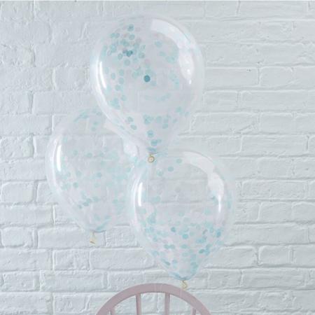 Slika za Ginger Ray® Baloni s konfetima Blue 5 komada