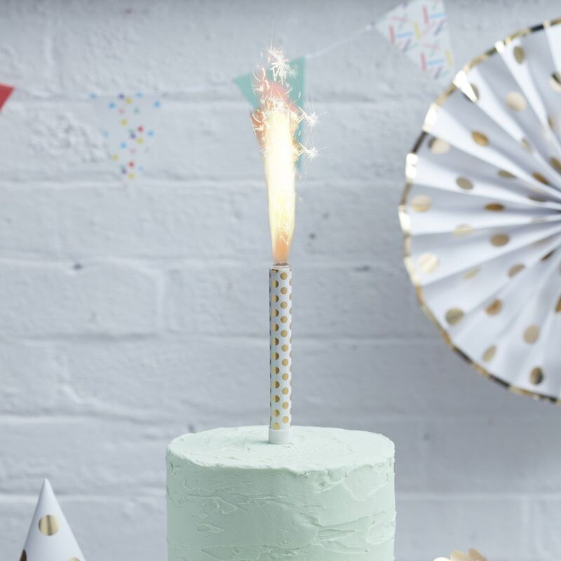 Slika za Ginger Ray® Fontana za tortu Gold Polka Dot 3 komada