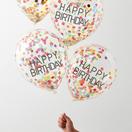 Slika za Ginger Ray® Baloni s konfetima Rainbow 5 komada