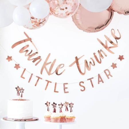 Slika za Ginger Ray® Viseći natpis Twinkle Twinkle Rose Gold