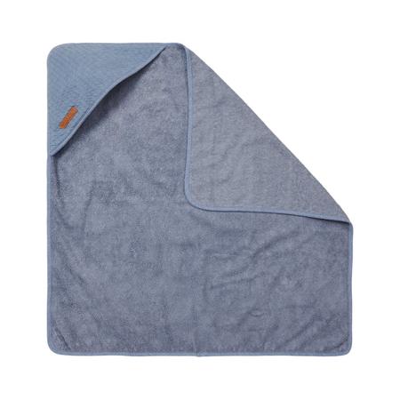 Slika za Little Dutch® Ručnik s kapuljačom Pure Blue 75x75