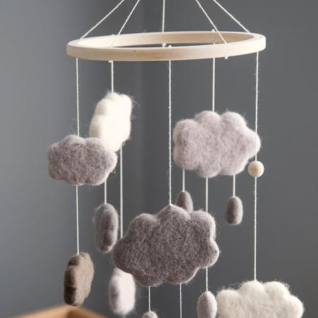 Slika za Sebra® Vrtuljak za krevetić Clouds Warm Grey