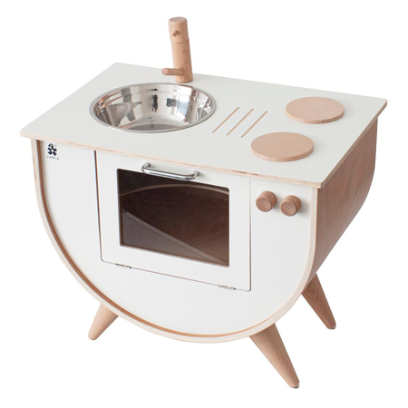 Slika za Sebra® Drvena dječja kuhinja Classic White