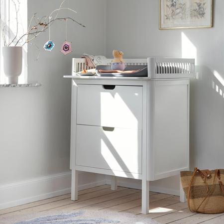 Slika za Sebra® Komoda s ladicama za previjanje Classic White