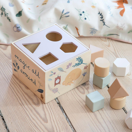 Sebra® Drvena kocka s različitim oblicima Daydream