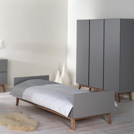 Quax® Dječji krevetić Trendy 200x90 Griffin Grey